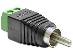 Conector RCA macho com borner  - Esferatronic Comercio e Distribuição