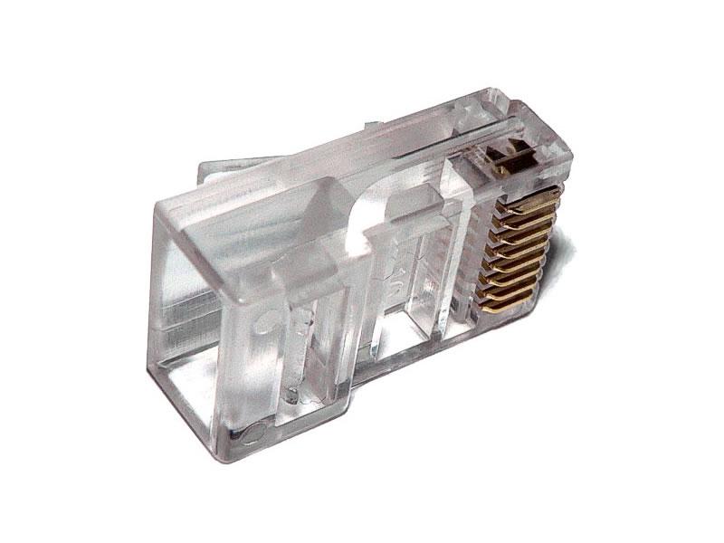 Conector RJ45 macho plug para cabo de rede lan cat5e