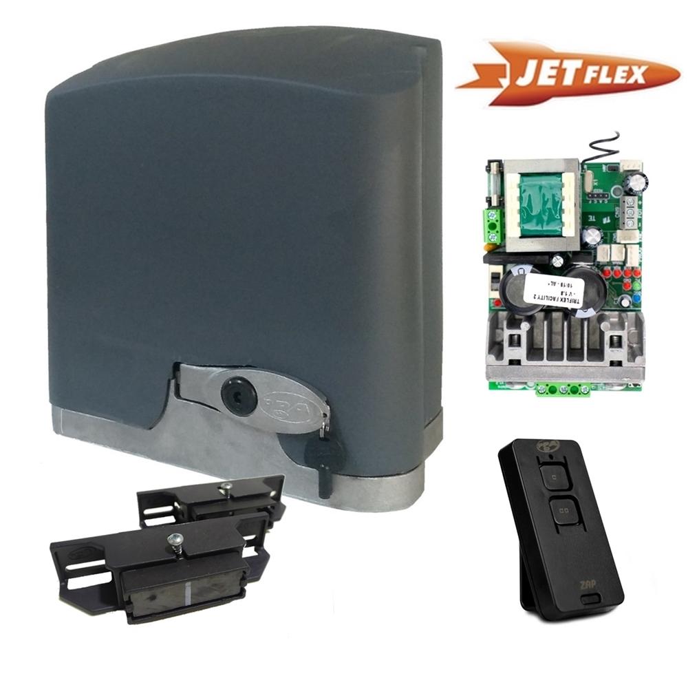 Conjunto automatizador portão de correr DZ Rio turbo KL jetflex Facility 1/4 hp Ultra-rápido