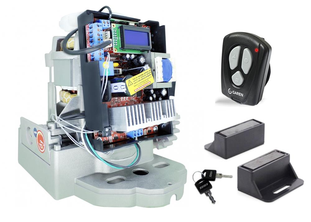 Conjunto automatizador portão de correr Semi-industrial 1/2hp DZ TSI Speed Garen Bivolt