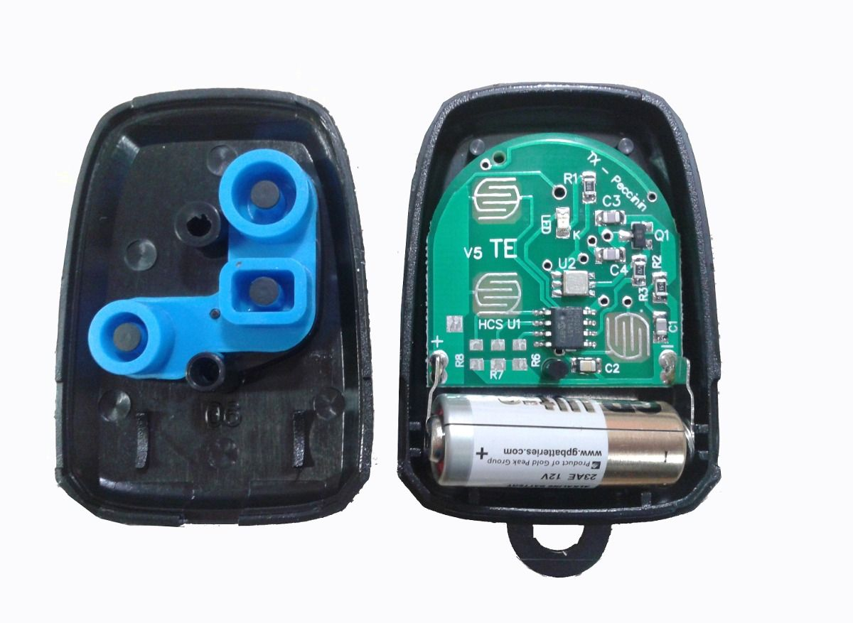 Controle remoto 433Mhz rolling code - Peccinin  - Esferatronic Comercio e Distribuição