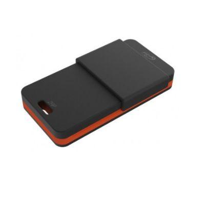 Controle remoto zap 4 botão 433mhz preto e laranja PPA