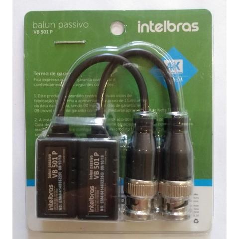 Conversor Balun Passivo Intelbras VB 501 P Compatíveis câmeras Analógicas, HD, Full HD e 4K