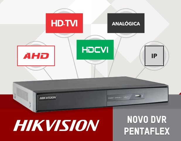 Dvr Hikvision 16ch Turbo Hd 3.0 Pentaflex 5x1 720p + Hd 2tb