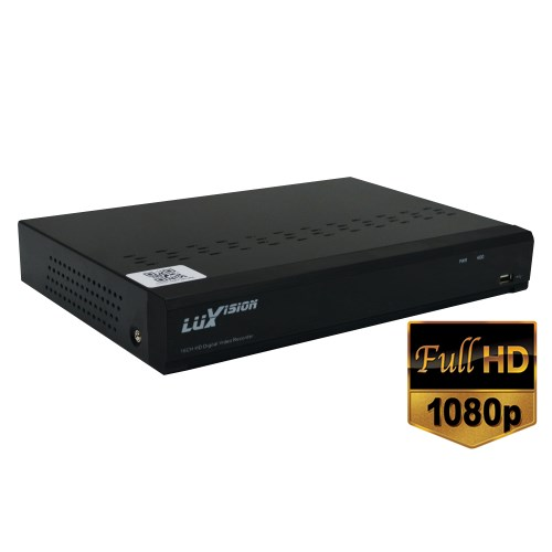 DVR  HVR Luxvision Stand Alone 08 Ch. AHD ECD Full HD 1080P Hibrido Onvif
