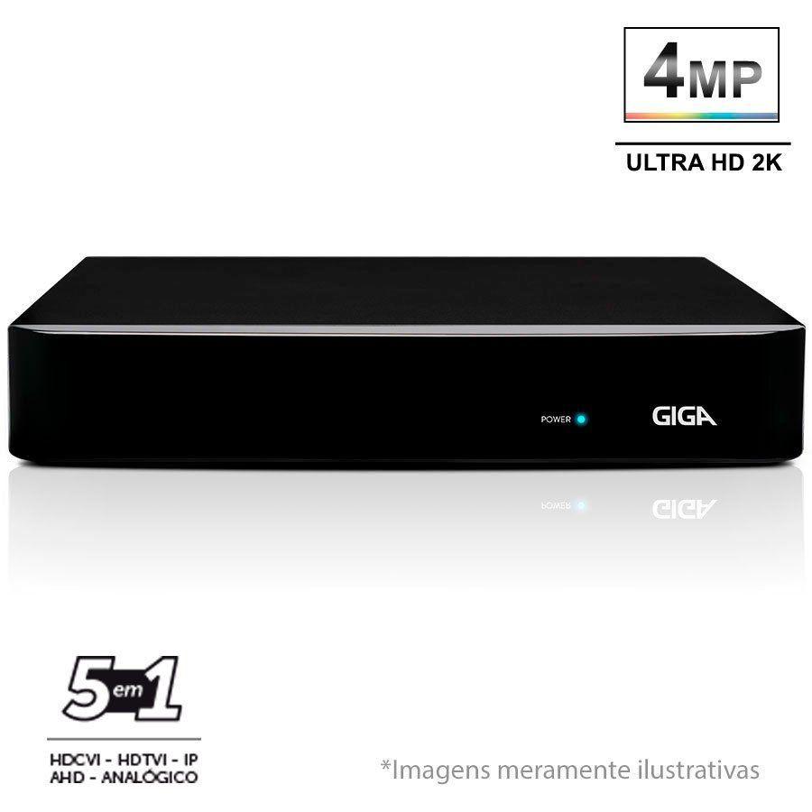 DVR Stand Alone 16 Canais Giga GS16OPEN4Mi2 4 Mega Ultra HD 2k 5 em 1 HDCVI, HDTVI, AHD, CVBS, IP