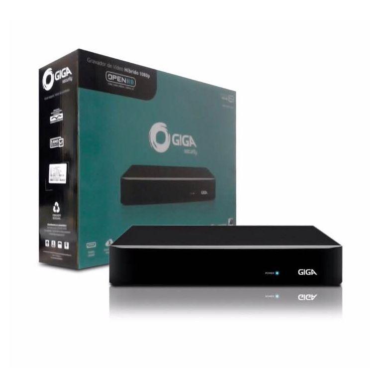 DVR Stand Alone 8 Canais Giga GS08OPEN4Mi2 4 Mega Ultra HD 2k 5 em 1 HDCVI, HDTVI, AHD, CVBS, IP
