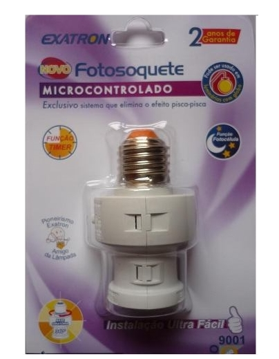 Fotosoquete com fotocélula e timer microcontrolado - Exatron
