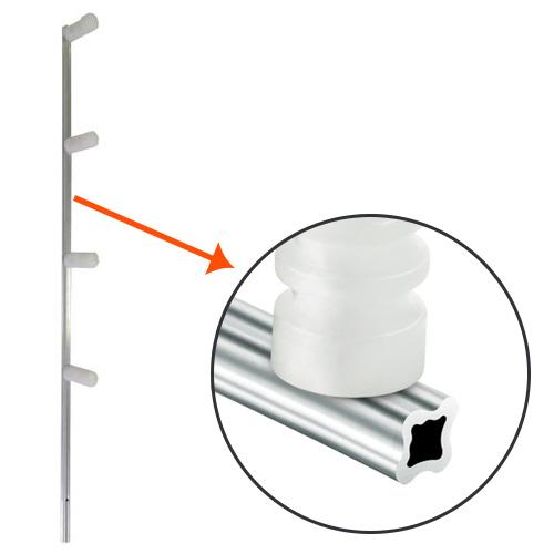 Haste de aluminio para cerca elétrica com 4 isoladores - Confiseg