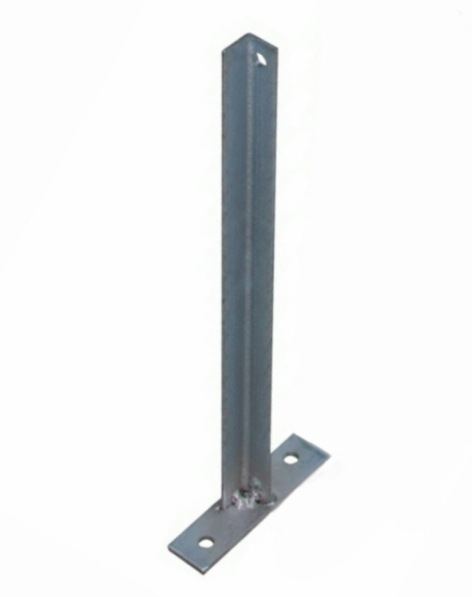 Haste de ferro galvanizado para cerca concertina c/ base