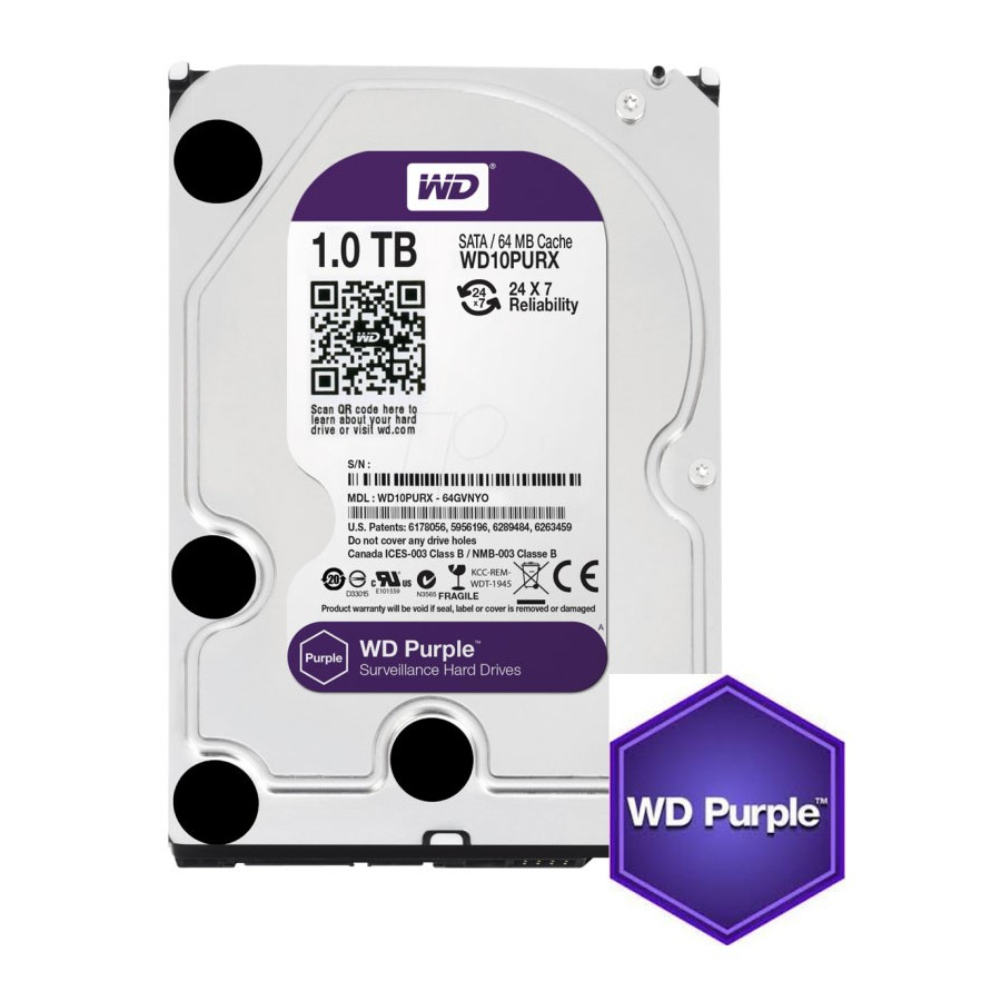 HD interno Sata Western Digital WD Purple 1TB - WD10PURX