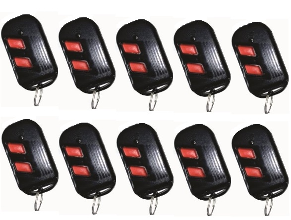 Kit 10 Controle Regravável Ideal 2 Em 1 Chip/chaveiro 433mhz