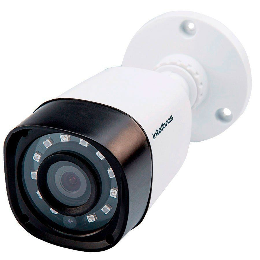 Kit 2 Câmeras de Segurança Bullet Multi HD Intelbras VHD1010 G4 + DVR Intelbras MHDX1004 + Acessórios