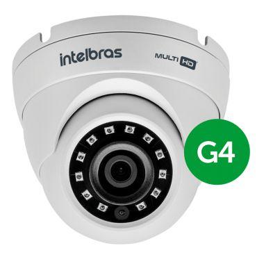 Kit 2 Câmeras de Segurança Dome Multi HD Intelbras VHD1010 G4 + DVR Intelbras MHDX1016 + Acessório