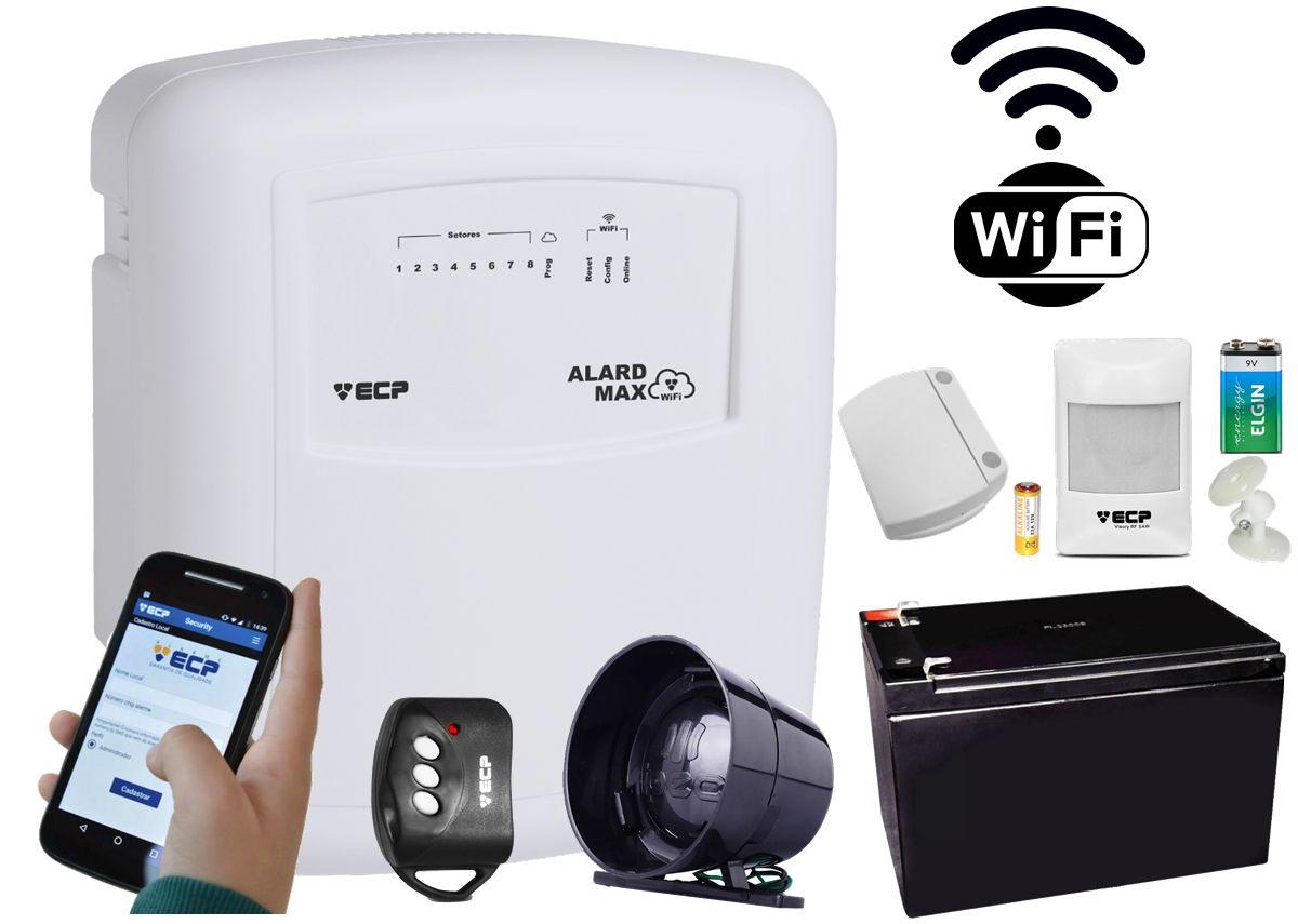Kit Alarme Alard Max Wifi + Aplicativo + 2 Sensor Sem Fio