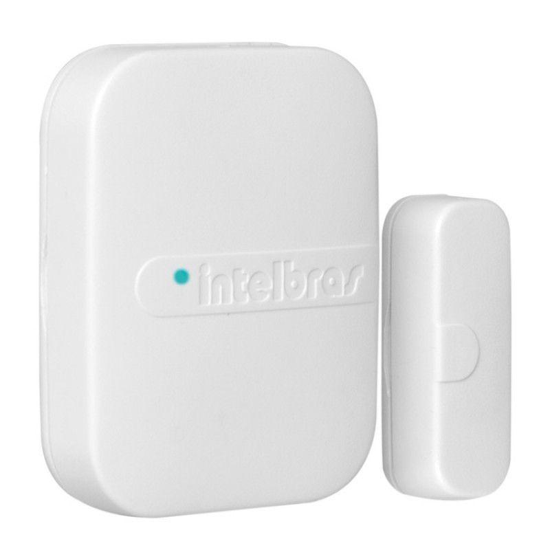 Kit alarme Intelbras ANM 24 Net monitoramento Via aplicativo + 2 sensor infra Pet sem fio e 4 sensores magnético sem fio