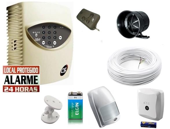 Kit alarme residencial supéria jr c/ discadora + 1 sensor infra s/ fio + 1 sensor magnético s/ fio - Marca CS