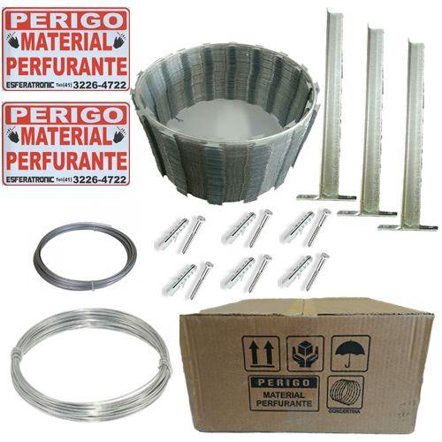 Kit Cerca de Ouriço/concertina Galvalume 30cm - Faz Até 10 Metros