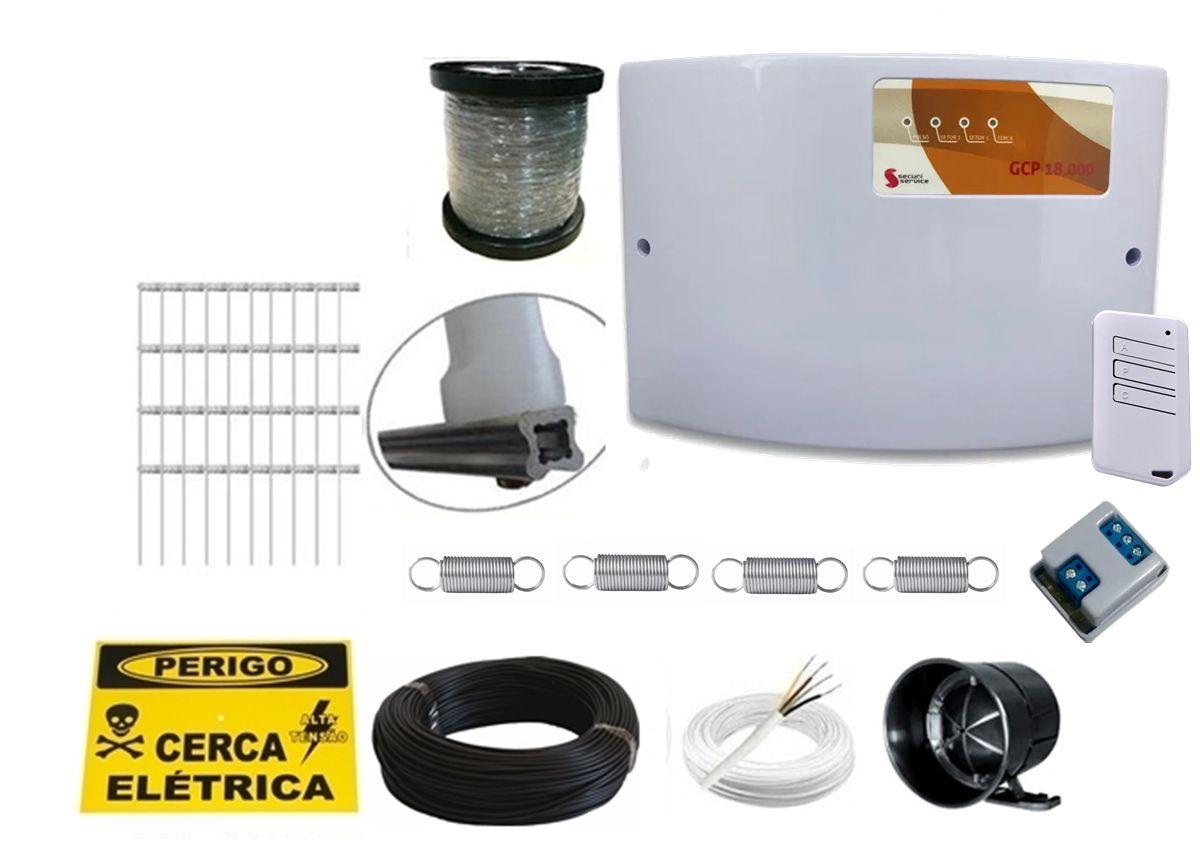 Kit cerca elétrica para 30 metros Gcp 18.000 com 2 Setor de alarme - Securi Service