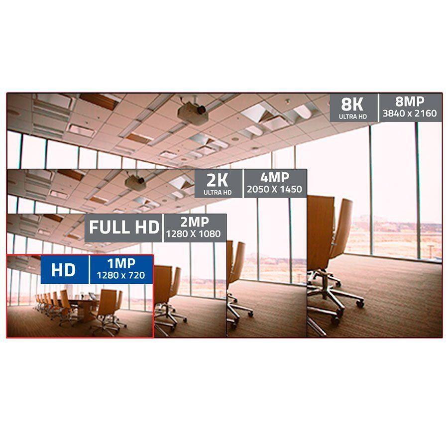 Kit 4 Câmeras de segurança HD 720p + DVR 16 Canais Giga GS16OPEN4Mi2 Multi HD + Acessórios