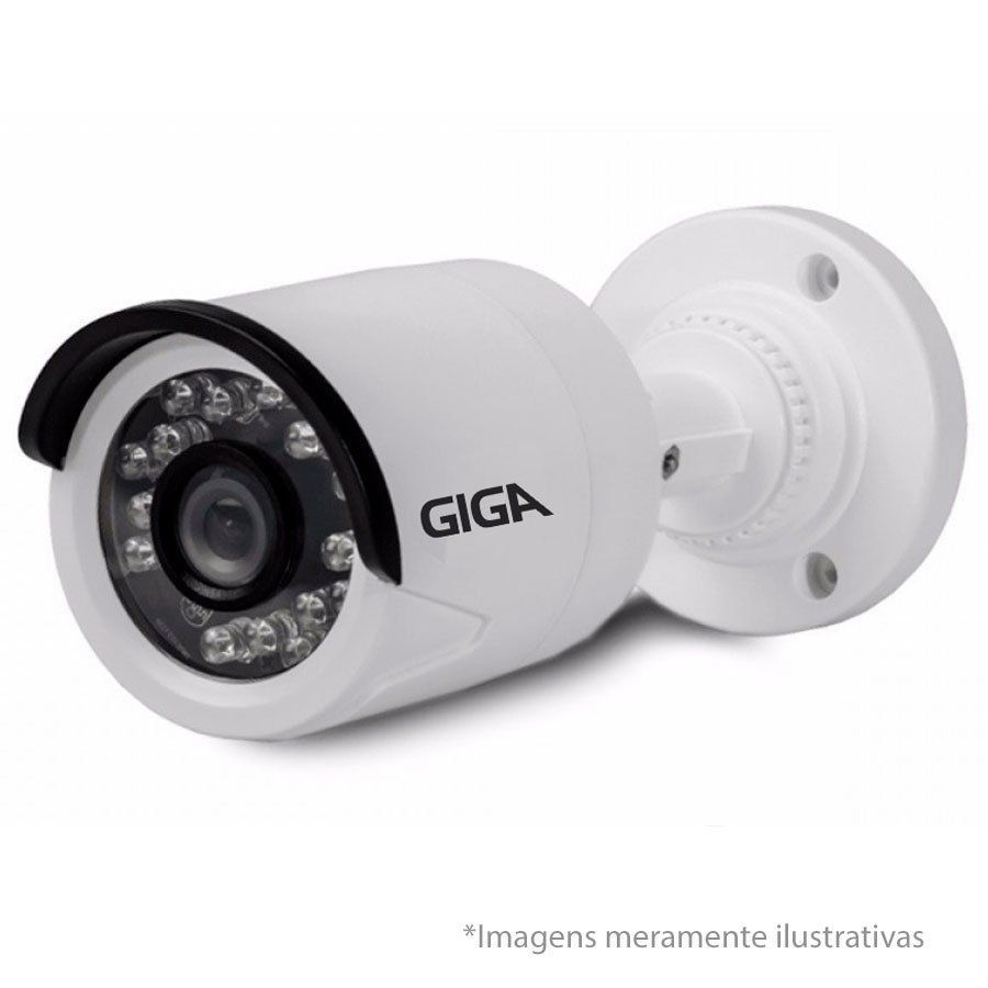 Kit CFTV 4 Câmeras de segurança HD 720p + DVR 8 Canais Giga GS08OPEN4Mi2 4 Mega Ultra HD 2k + Acessórios