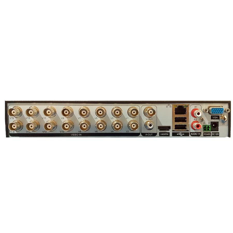 Kit DVR 16 Canais Giga FULL HD + 4 Câmeras de segurança Bullet HD 720p GS0020 + Acessórios