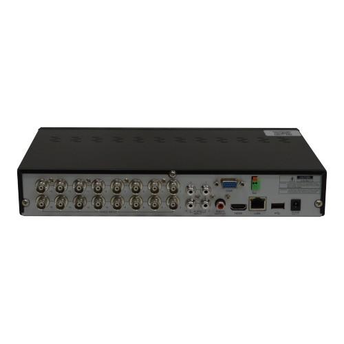 Kit DVR HVR All HD ECD 16 canais Luxvision + 2 Câmeras Bullet Infra AHD 720p com Cabo, Fonte e Conectores  - Esferatronic Comercio e Distribuição