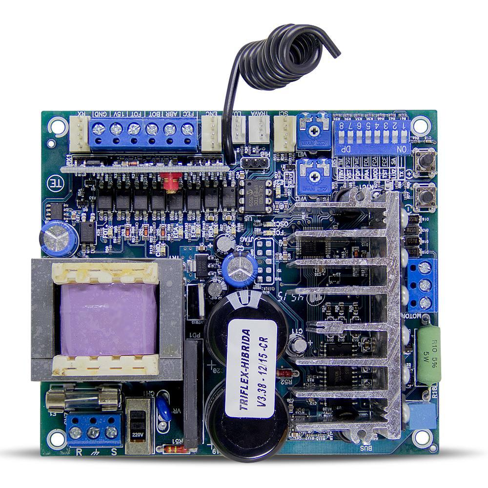 Kit motor portão eletrônico basculante penta Predial jetflex bivolt 1/2 Hp (Fim de curso Híbrido) - marca PPA  - Esferatronic Comercio e Distribuição