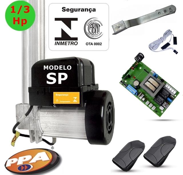 Kit motor p / portão eletronico basculante potenza SP 1 / 3 Hp ( Fim de curso hibrido ) - marca PPA