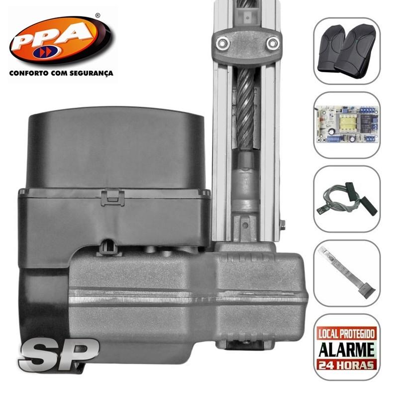 Kit motor portão eletronico basculante levante SP 1/4 Hp (Fim de curso hibrido) - marca PPA