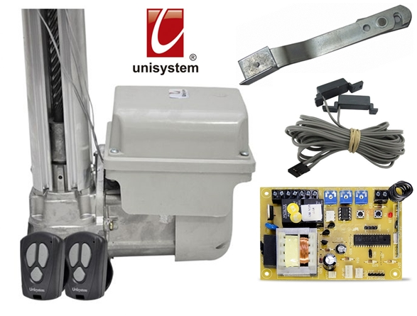 Kit motor portão eletrônico basculante pillar max 1/3 hp Unisystem