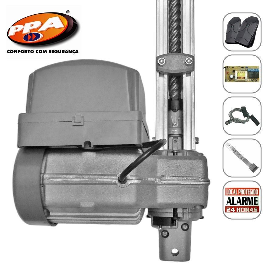 Kit motor portão eletrônico basculante Potenza Predial 1/3 Hp Analógico(POP) PPA