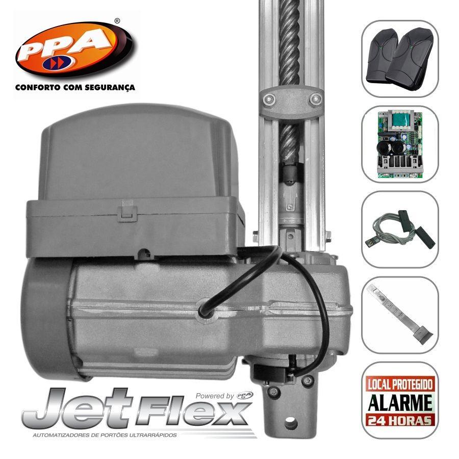 Kit motor portão eletrônico basculante potenza Predial Robust 1/3 Hp jetflex Facility bivolt PPA