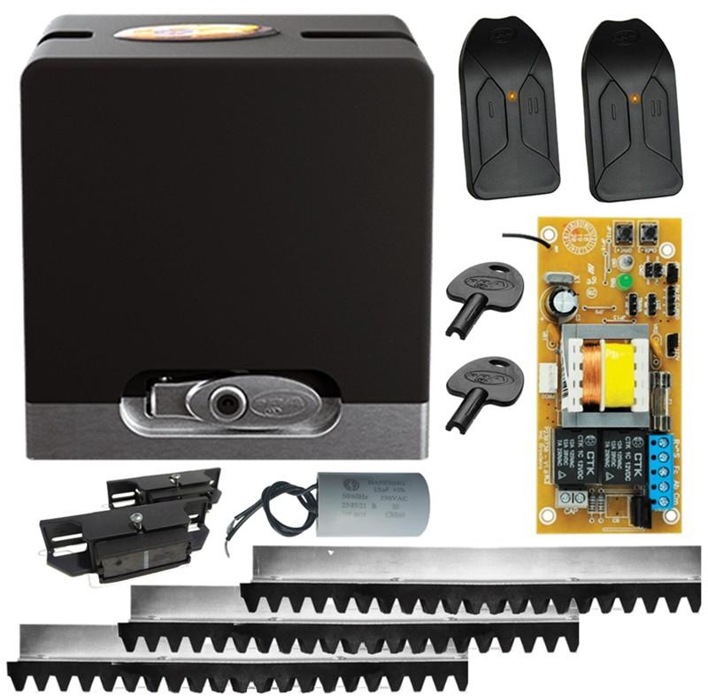 Kit motor portão eletrônico de correr DZ Hub 450 KL 1/4hp PPA