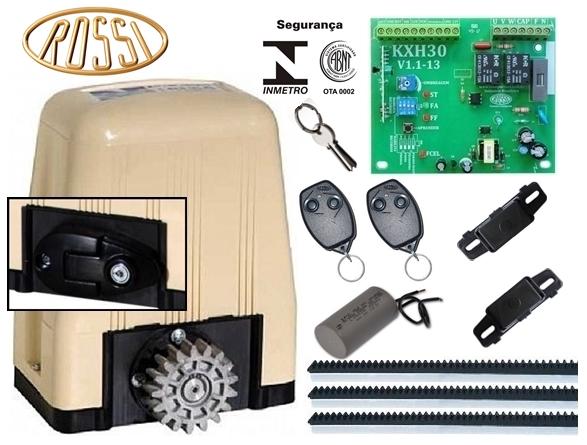 Kit motor portão eletrônico deslizante DZ3 SK Turbo 1/4 hp Rossi