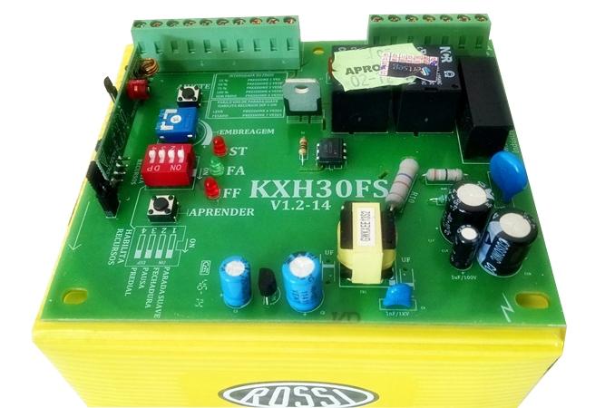 Kit motor portão eletrônico deslizante DZ3 SK Turbo 1/4 hp Rossi  - Esferatronic Comercio e Distribuição