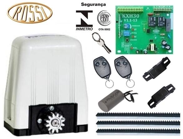 Kit motor portão eletrônico deslizante DZ4 SK 1/3 hp Rossi  - Esferatronic Comercio e Distribuição