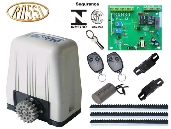 Kit motor portão eletrônico deslizante DZ4 SK Turbo 1/3 hp Rossi