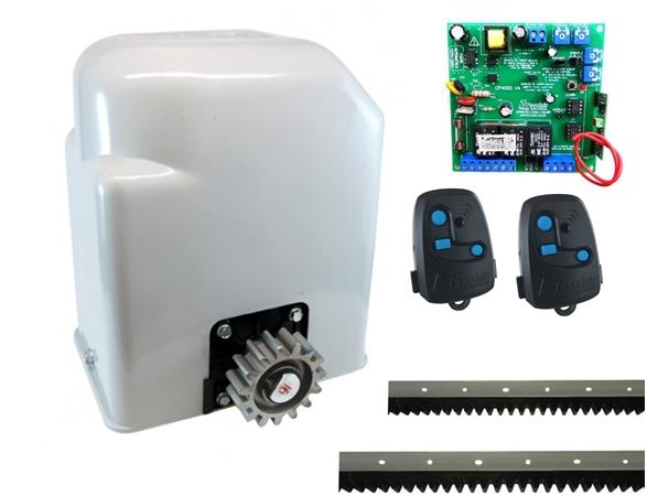 Kit motor portão eletrônico deslizante light 1/3 hp Peccnin  - Esferatronic Comercio e Distribuição