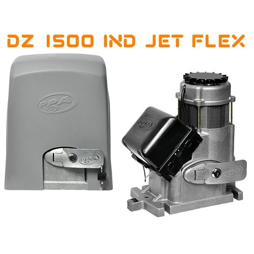Kit motor portão eletrônico Dz 1500 Industrial 1HP jetflex Hibrida Bivolt PPA