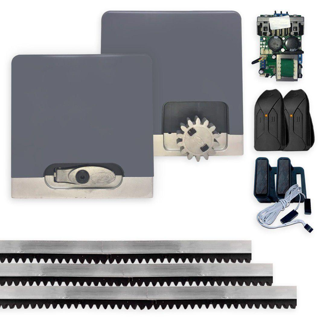 Kit Motor Portão eletrônico DZ Hub 550 Jetflex Facility 1/4hp Ultra Rápido