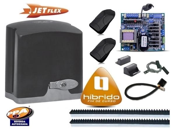 Kit motor portão eletronico DZ Rio turbo jetflex Bivolt 1/4 hp (Ultra-rápido) - marca PPA  - Esferatronic Comercio e Distribuição