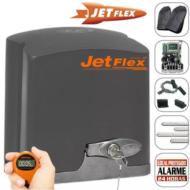 Kit motor portão eletrônico DZ Rio turbo jetflex Facility 1/4 hp Ultra-rápido