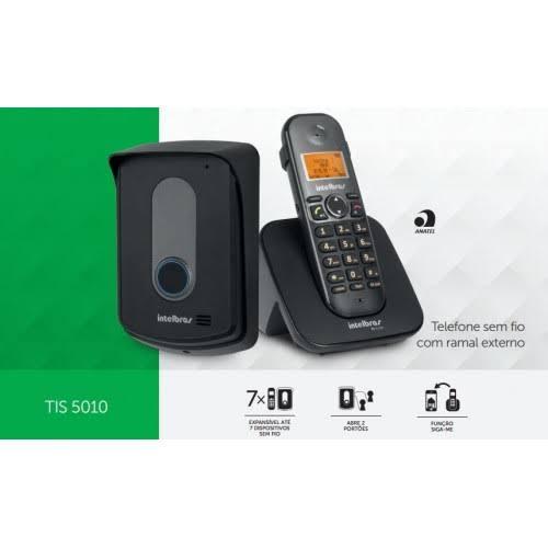 Kit Porteiro Eletrônico Residencial e telefone sem fio TIS 5010 Intelbras