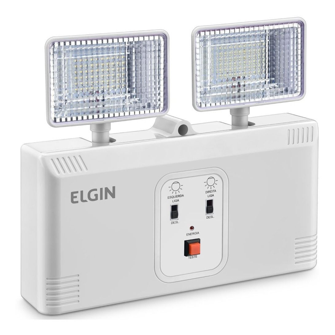 Luminária De Emergência Led Power Line 8w 1000 Lumens Elgin