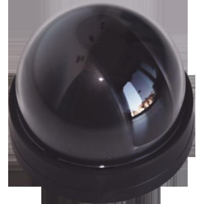 """Mini dome preto fumê 4"""" com suporte universal para mini câmera  - Esferatronic Comercio e Distribuição"""
