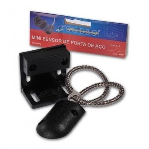 Mini sensor magnético para porta de aço e portões - Stilus  - Esferatronic Comercio e Distribuição