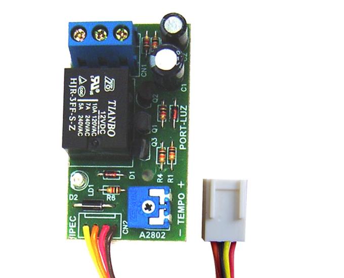 Modulo temporizador luz garagem Flat 4 vias PPA - IPEC  - Esferatronic Comercio e Distribuição