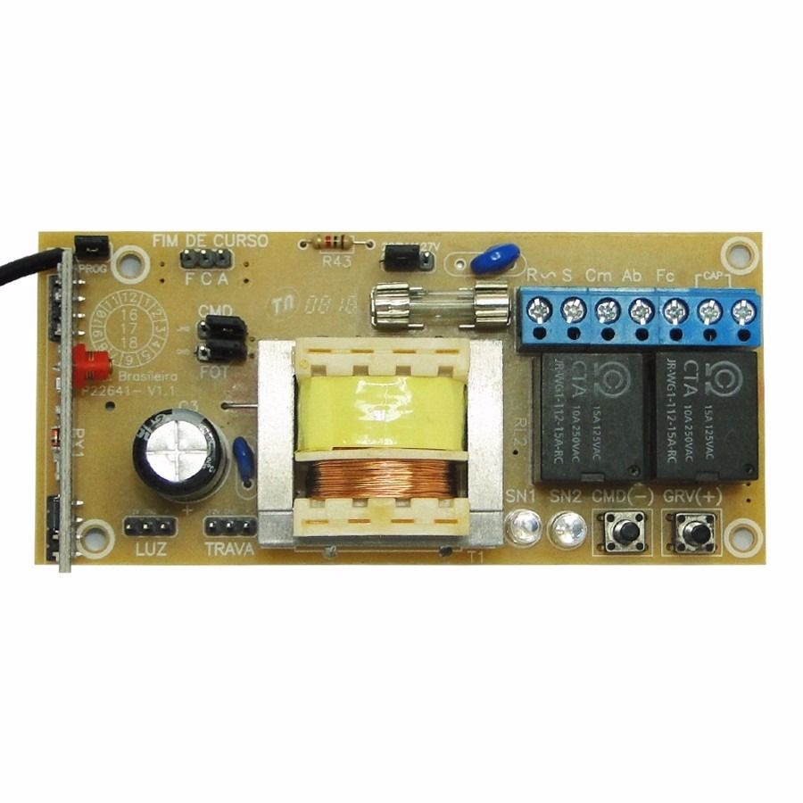 Motor de portão eletrônico DZ Rio turbo custom analógico 1/4hp PPA  - Esferatronic Comercio e Distribuição