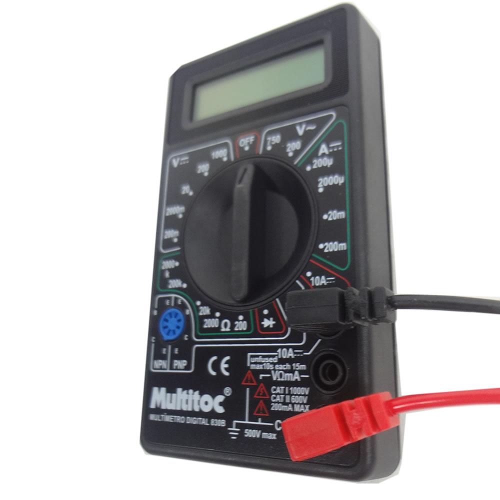 Multímetro Digital Portátil 830B Visor Lcd Medição Tensão Elétrica  - Esferatronic Comercio e Distribuição